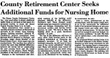 County Retirement Center Seeks...