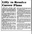 Lilly to Resolve Career Plans
