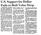 U. S. Support for Dollar Fails to...