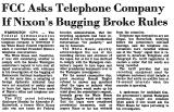 FCC Asks Telephone Company If...