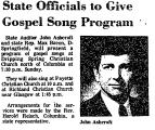 State Officials to Give Gospel...