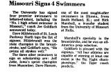 Missouri Signs 4 Swimmers