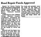 Road Repair Funds Approved