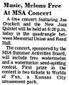 Music, Melons Free at MSA Concert