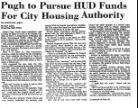 Pugh to Pursue HUD Funds for City...