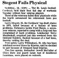 Stegent Fails Physical