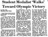 Student Medalist 'Walks' toward...