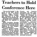 Teachers to Hold Conference Here