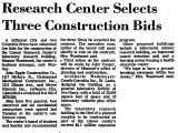 Research Center Selects Three...