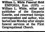 William L. White Funeral Held