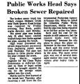 Public Works Head Says Broken...
