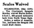 Scales Waived