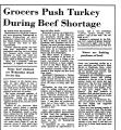 Grocers Push Turkey during Beef...