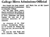 College Hires Admissions Official