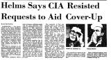 Helms Says CIA Resisted Requests...