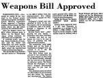 Weapons Bill Approved