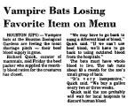 Vampire Bats Losing Favorite Item...