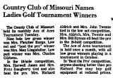 Country Club of Missouri Names...