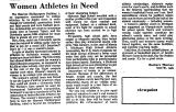 Women Athletes in Need