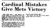 Cardinal Mistakes Give Mets...