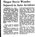 Singer Stevie Wonder Injured in...