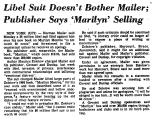 Libel Suit Doesn't Bother Mailer;...