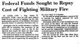 Federal Funds Sought to Repay...
