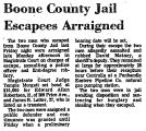 Boone County Jail Escapees...