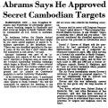Abrams Says He Approved Secret...