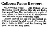Colborn Paces Brewers