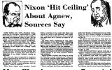 Nixon 'Hit Ceiling' About Agnew,...