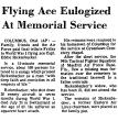Flying Ace Eulogized at Memorial...
