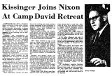 Kissinger Joins Nixon at Camp...