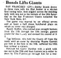 Bonds Lifts Giants