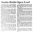 Austin Holds Open Lead
