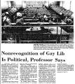 Nonrecognition of Gay Lib is...