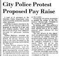 City Police Protest Proposed Pay...