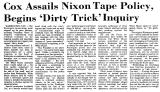 Cox Assails Nixon Tape Policy,...