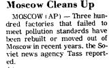 Moscow Cleans Up