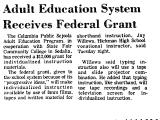 Adult Education System Receives...