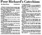 Poor Richard's Catechism