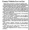 County Vehicles Low on Gas