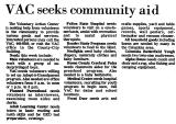 VAC Seeks Community Aid