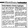 Radio Mystery Theater Highlights