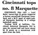 Cincinnati Tops No. 8 Marquette