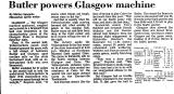 Butler Powers Glasgow Machine