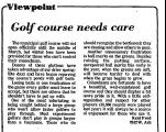 Viewpoint Golf Course Needs Care