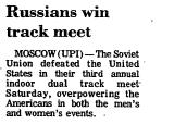 Russians Win Track Meet