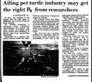 Ailing Pet Turtle Industry May...