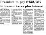 President to Pay $432,787 in...